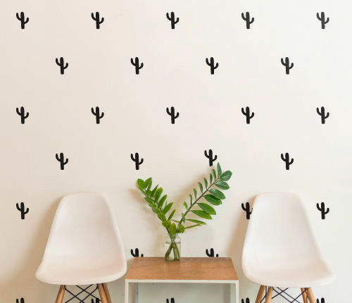 Set of 28 Pattern Cactus Wall Sticker Nursery Kids Home  MS155VC