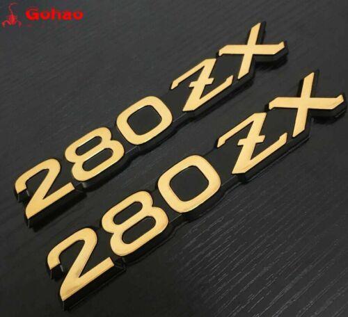 Pair ABS Datsun 280 ZX 280ZX Fender Side Emblem Symbol Logo Badges Decal Sticker