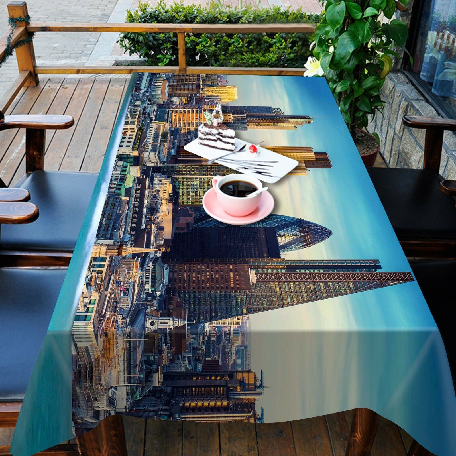 3D Tower 4834 Tablecloth Table Cover Cloth Birthday Party Event AJ WALLPAPER AU