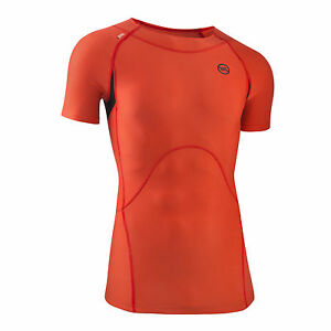 Mens Short Sleeve Top Compression Running Sports Gym Athletics Lifitng CrossFit