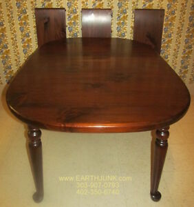 Ethan Allen Antiqued Tavern Pine Oval Spoonfoot Extension