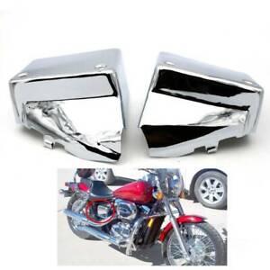 Chrome-Battery-Side-Cover-Metal-For-Honda-Shadow-Spirit-VT750DC-Black-Window