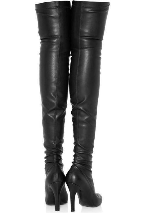 Stella McCartney Black Over Knee Boots UK4 IT37  New