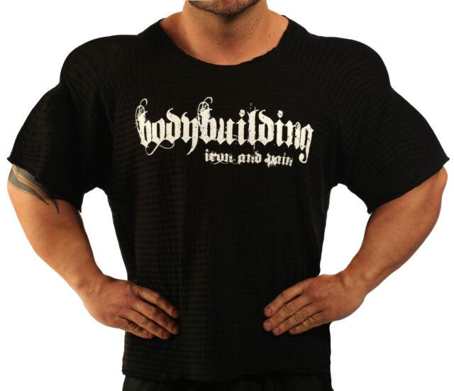 BLACK HARDCORE WORKOUT TOP BODYBUILDING CLOTHING L-133