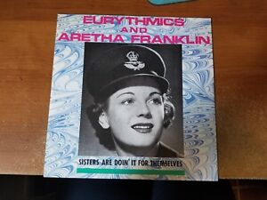 Eurythmics-amp-Aretha-Franklin-Sisters-Are-Doin-039-It-For-Themselves-12-in-Single
