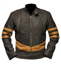 Kid/'s Xmen Origin Wolverine Logan Hugh Jackman Brown and Beige Jacket