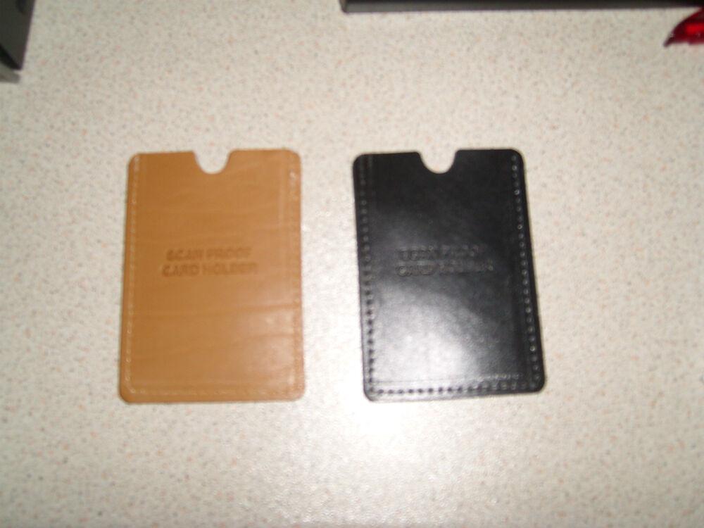 RFID NFC Blocking Carte Pack 2 Skim garde cartes de crédit Signal Hommes Portefeuille Purse