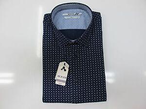 AT-P-CO-camisa-de-hombre-micro-patron-mod-A116AFRANCIA-col-BLU-BLANCO-invierno