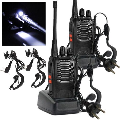 Long Range Walkie Talkie 2 Set 10 Mile Two Way Radio Charge Headset Waterproof