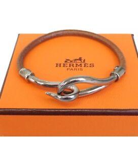 pre-loved-authentic-HERMES-Jumbo-Hook-leather-BRACELET