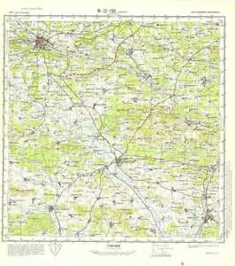 Katterbach Germany Map.Russian Soviet Military Topographic Maps Ansbach Germany 1 100