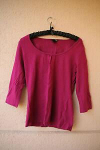 Magentafarbenes-Shirt-mit-3-4-Arm-von-H-amp-M-Groesse-M