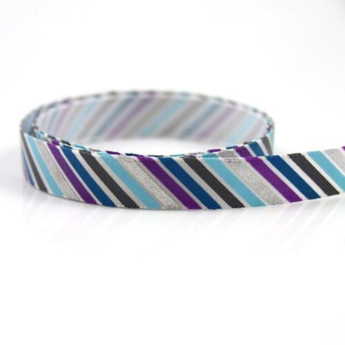 2 METRES STRIPED 10mm SATIN  RIBBON  CARDMAKING CRAFTING KIDS  R5554