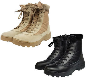 Mens-Work-Tactical-Cadet-Military-Army-Ankle-Boots-Security-Patrol-Combat-Shoes