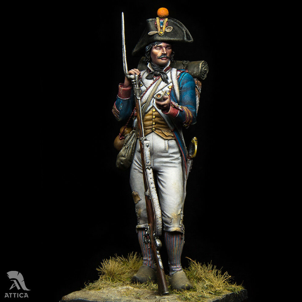 Napoleonic French Revolutionary Soldier 54mm Tin Toy Soldier miniature   Museum