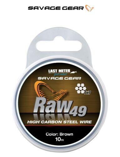 Savage Gear Raw 49 Strand Wire*3 Weights*Pike Predator Lure Trace Making Soft