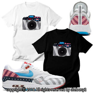 magasin en ligne 272e0 522ed Details about NEW CUSTOM T SHIRT matching Parra x Nike Air Max 1 And  Spiridon JD 1-19-11