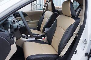 Image Is Loading Honda Accord 2017 Black Beige Leather Like