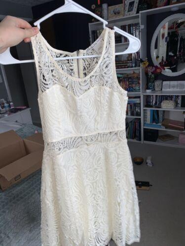 Off-white Mini Lacey Dress
