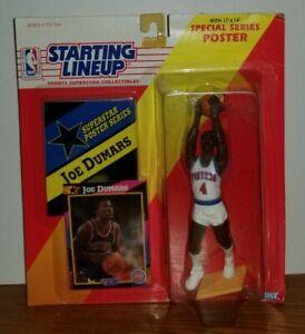 1992 NFL Starting Lineup JOE DUMARS Detriot Pistons Figure Card