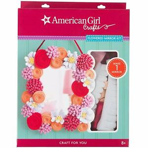 Details About American Girl Doll Crafts Flowered Mirror Diy Felt Flowers Rose Kids Art Kit New