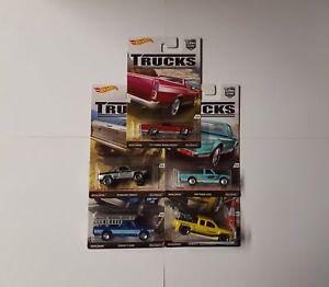 Hot Wheels TRUCKS Set 5 Modellautos 1:64, Rennautos, Für Jungen,Truck-A<wbr/>utos, neu