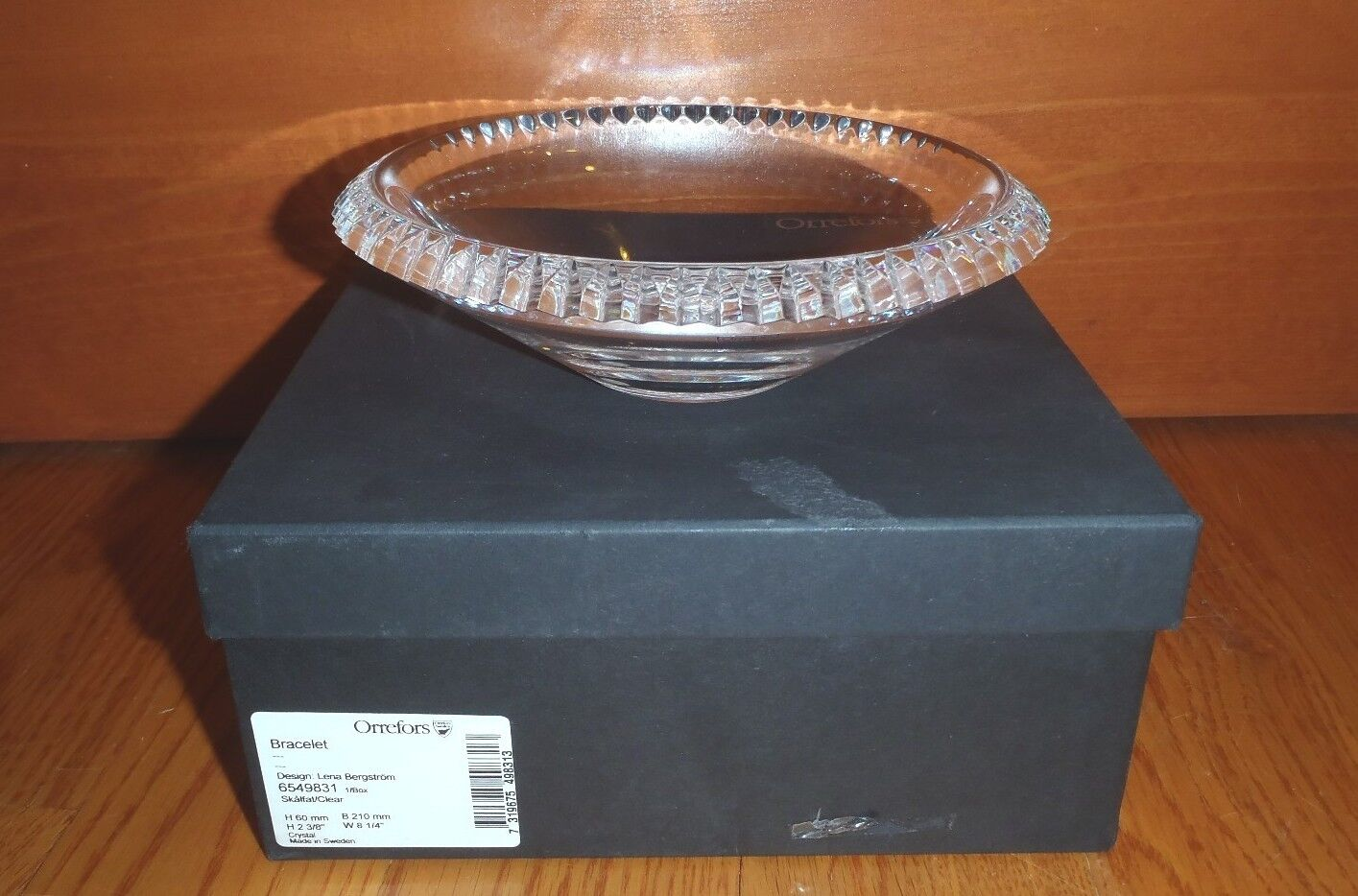 Orrefors  Bracelet Low Bowl by Lena Bergstrom  New in Box