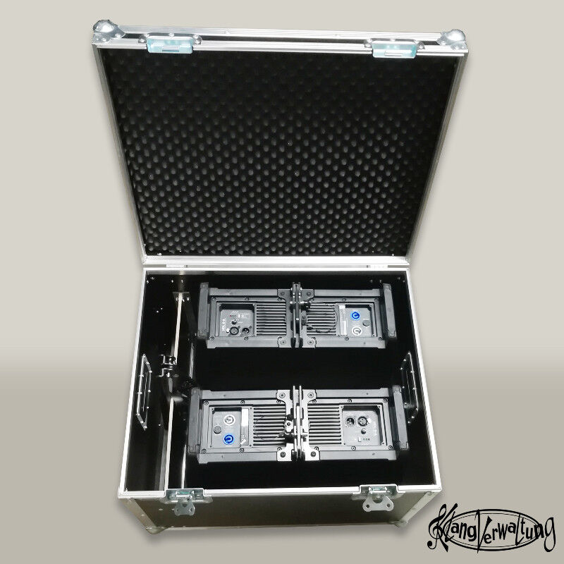Case für 2x RCF HDL6 inkl. Stativadapter Truhencase Transportcase Flightcase