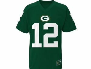 7cf0980e Details about Green Bay Packers Youth T-Shirt NFL Rodgers Player  Performance Name & Number Tee