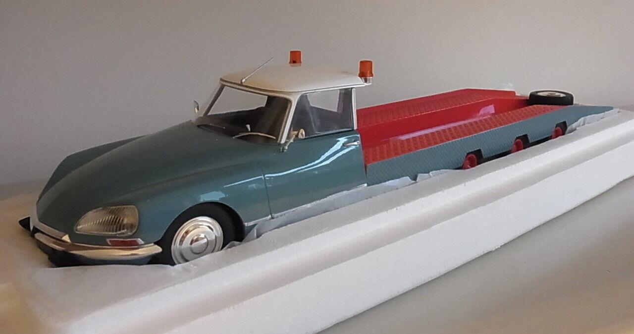 Citroen DS Tissier Autotransporter   transporter 4 Achser - 1970  1 18 blau CMR