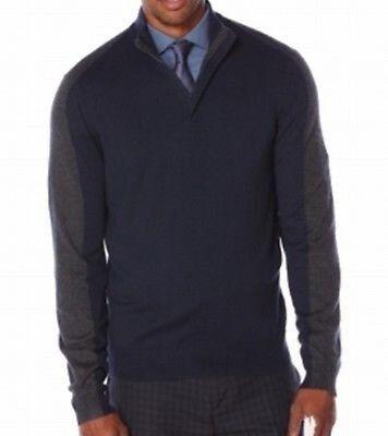 Men's Clothing Assorted Colors Creative Perry Ellis Men's Color Block 1/4 Zip Cotton Blend Sweater