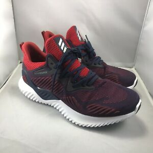 buy popular 50623 dd2c8 Image is loading adidas-alphabounce-beyond-NCAA-F36828-Navy-Red-Running-