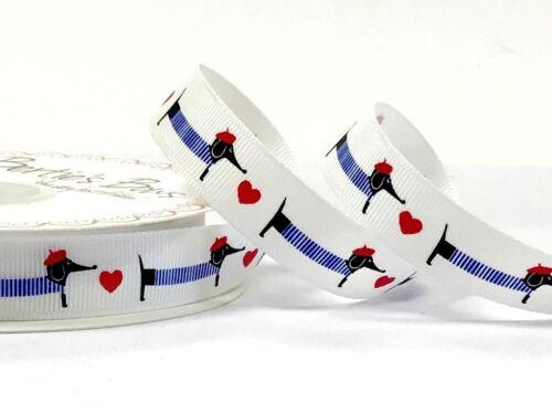 Bertie/'s Bows 9 mm /& 16 mm teckel Imprimé-ruban vendu au mètre ou sur un rouleau