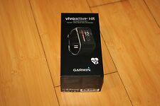 NEW! Garmin VivoActive HR Heart Rate Monitor Black Regular 010-01605-03 Watch