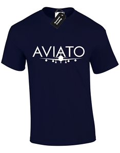 AVIATO MENS T SHIRT SILICON VALLEY NERD GEEK AIRPLACE COOL RETRO TV PLANE TOP
