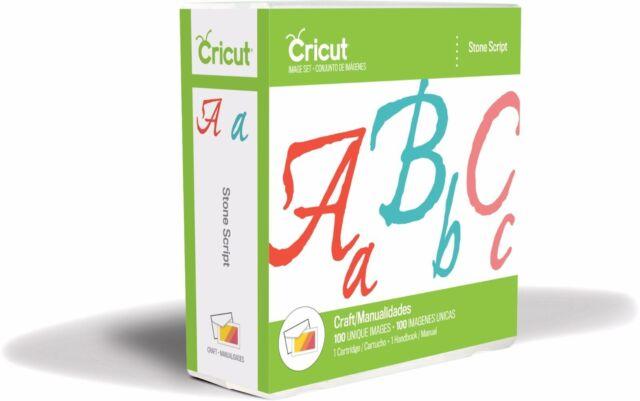 *New* STONE SCRIPT Font Cursive Number Cricut Cartridge Factory Sealed Free Ship