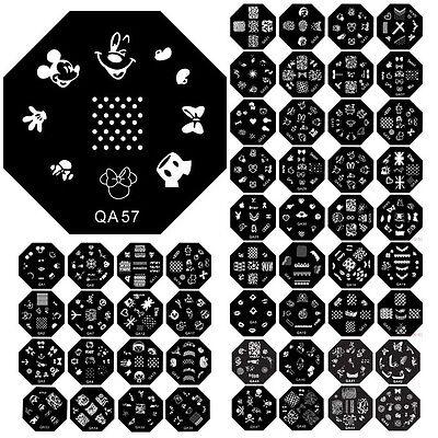 60 Designs Pattern DIY Nail Art Image Stamp Stamping Plates Manicure Template