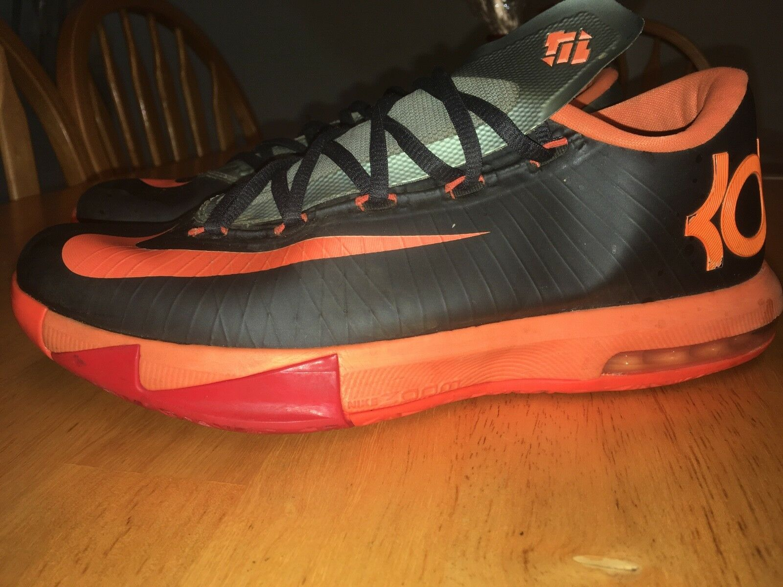 Nike KD 6 Silver/Orange/Black size 8