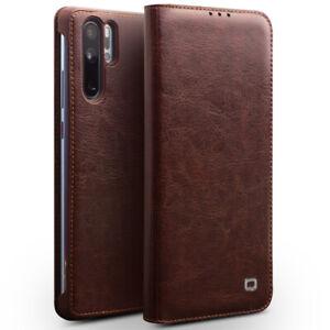 QIALINO-Echt-Leder-Flip-Slim-Case-Cover-Schutz-Huelle-Fuer-Huawei-P30-P20-Pro-P10