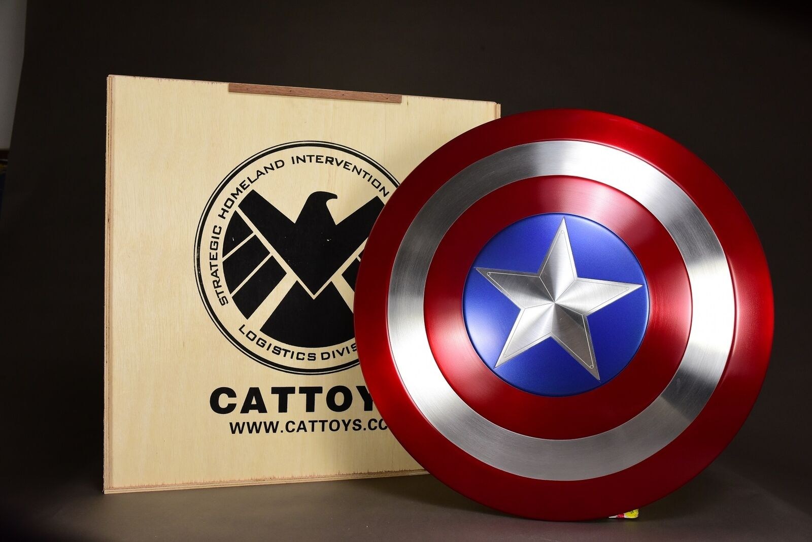 Metall Made CAleksaker 1  1 Captain America Perfect Shield version Metal Prop