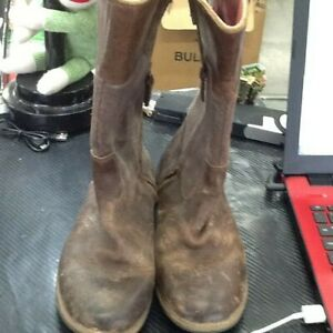 Details about Timberland Leather Girls Boots Size 3 Used Brown