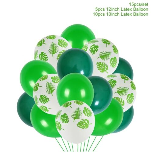 Jungle Turtle Leaf Palm Vine Confetti Balloons Helium Baby Shower Party Decor
