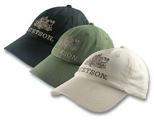 Stetson-Logo-Baseball-Cap-Hat-Linen-Cotton-Blend-Natural-One-Size-Adjustable