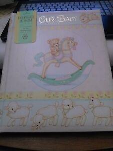 hallmark keepsake album our baby book adopted child new 1982
