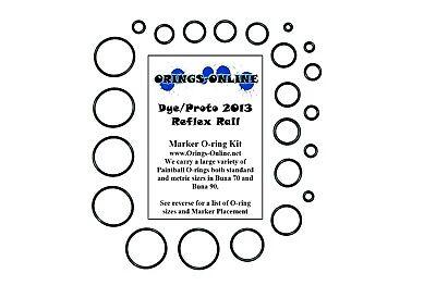 LARGE Proto Rail Proto Reflex 2011 colored O-Ring Kit