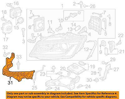 Genuine Mounting for main beam headl left AUDI Q5 8RB 8R0805607B