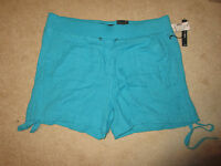 Shorts - Roz & Ali - Turquoise - Cotton - Casual - Sz 16 -