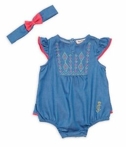 ba79fb4dd Image is loading JUICY-COUTURE-BABY-GIRL-EMBROIDERED-DENIM-BODYSUIT-WITH-