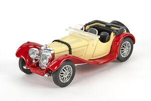 LNB 0379 Solido Jaguar SS 100, Druckguss, rot/elfenbein, 1:43
