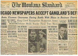 Image Is Loading Newspaper Chicago Newspapers Accept Ganglands Defi June 11